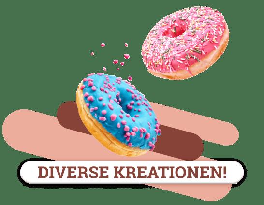 diverse Donut Kreationen